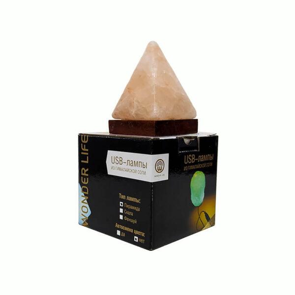 Солевая лампа Wonder Life «Пирамида»